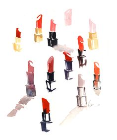 lipstick drawing - Google Search