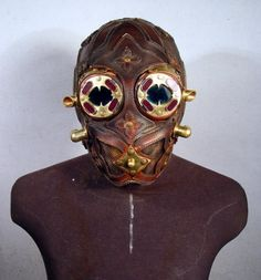 Thirteen Recycled Steampunk Gas Masks - 1-800-RECYCLING