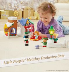 Celebrate the magic of Christmas with the Little People exclusive holiday sets! Preschool Block Area, Cute Babies, Baby Kids, Fisher Price Toys, Grandmothers, Christmas Deco, Merry And Bright, Young Children, Little People
