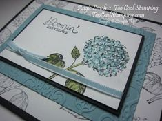 Best of Flowers hydrangea with Bloomin' Marvelous  ~TooCoolStamping.com