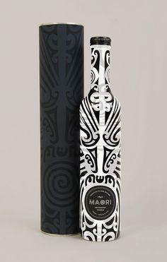 Maori Liquor packaging designnew zealand.. remind me of a swaby- karma design..