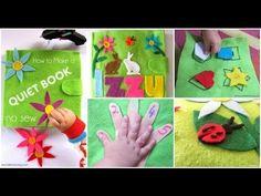#tutorial come fare libro morbido per bambini in feltro senza cucire