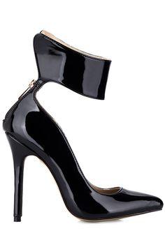 'Dominate' Black Patent Leather Pumps #heels #shoes