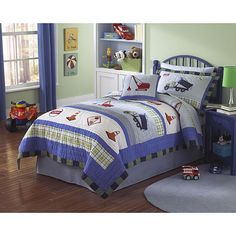 Trucks at Work 3-piece Quilt Set - Overstock™ Shopping - The Best Prices on Kids' Quilts