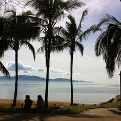 View of Magnetic Island taken from The Strand in Townsville Australia.