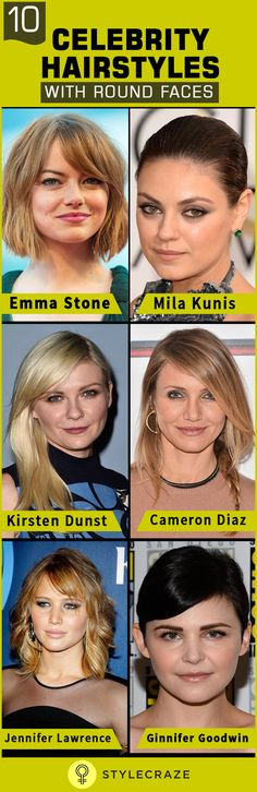 Having a round face and finding a hairstyle to complement that shape can be a bit tricky, but help is at hand, as we've compiled a list of ten celebrity hairstyles with round faces. From Adele's half updo, Aishwarya's loose curls to Emma Stone's wavy bob and Ginnifer Goodwin's pixie, some of the most stylish hair'dos to provide you little an inspiration. Here are a few celebrities with round face shapes who have used these cuts and style techniques to bring out the glam!
