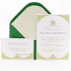 emerald wedding invites