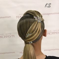 "149 Likes, 1 Comments - Кристина Шинкарюк (@k_shinkariuk_stylist) on Instagram: ""Hair by Kristina Shinkariuk  #hairdresses #hairstyle #hair #kristinashinkariuk #dancesport…"""