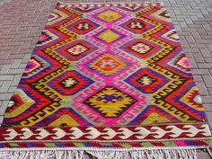Anatolian Turkish Antalya Barak Kilim Rug Carpet 109 4 x 68 5   eBay