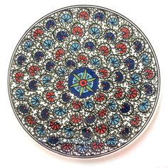 Floral Ceramic Trivet made in Turkey