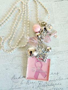 """Survivor"" Breast Cancer Awareness charm necklace"