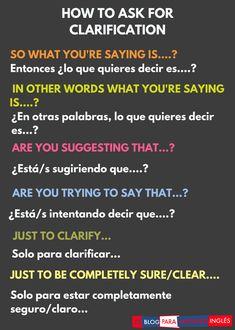El Blog para Aprender Inglés | Cómo pedir que te aclaren algo en inglés
