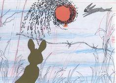 Wanted: Watership Down original animation cel/ drawing Fox And Rabbit, Rabbit Art, Rabbit Book, Watership Down Movie, Animation Cel, Tattoo Project, Cool Animations, Bright Eyes, Graphic Illustration