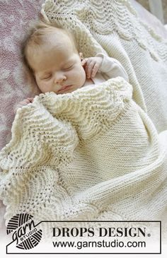 Manta de bebê - só a barra trabalhada - tricô   Eu que Fiz - Vovó Baisa