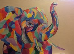 Colorful Abstract Elephant by theRiversZen on Etsy