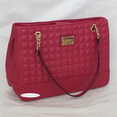 eBay UK  GORGEOUS TIGNANELLO LADY Q PEBBLE LEATHER QUILTED SHOPPER CHAIN ACCENT RASPBERRY NEW