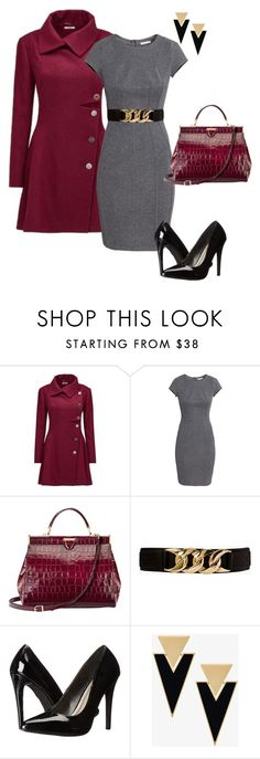 """""""Grey and Burgundy"""" by kassya27 ❤ liked on Polyvore featuring H&M, Aspinal of London, Forever 21, Michael Antonio and Yves Saint Laurent"""