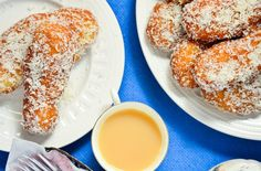 Our grandmother (Mama) used to make these delicious koeksisters, South African donuts covered in syrup and coconut. Try them out today!