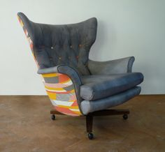 Vintage G Plan Swivel Chair 6250 Wing Chair by FlorrieandBill, £950.00