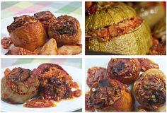 γεμιστά πολυχρωμα Greek Recipes, Baked Potato, Easy Meals, Cooking Recipes, Beef, Baking, Vegetables, Ethnic Recipes, Barbie