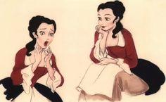 Belle in Baroque fashion.