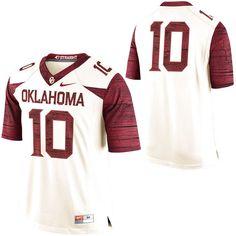 Oklahoma Sooners Nike No. 10 Limited Football Jersey – Cream -  134.99 Oklahoma  Sooners 4a0c8e273