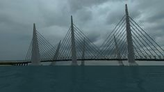 ONO City harbor bridge Harbor Bridge, Minecraft City, Travel, Male Character Design, Viajes, Destinations, Traveling, Trips