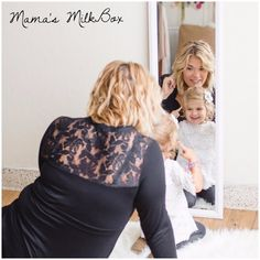 """We hardly do basics around here. Even our """"basic"""" pieces like this newest style - Lucy - has a beautiful lace detail that will leave onlookers saying, """"And you can breastfeed in that? (Perfect for Mamas who wear lots of top knots and buns! Breastfeeding Fashion, Breastfeeding Clothes, Bump Style, Top Knot, Maternity Fashion, Lace Detail, Leather Skirt, Buns, Nursing"""