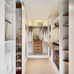 A walk-in dressing room from John Lewis of Hungerford