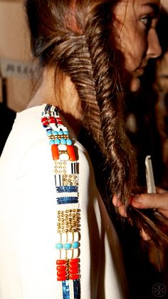 Backstage at Tory Burch Spring 2013