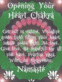 Visualize green light filling your heart. Inhale green light. Be love. Give love. Forgive because it's good for your heart, and the heart of Earth. <3
