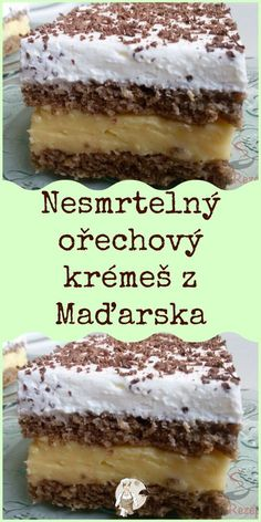 Pudding Desserts, Dessert Recipes, Hungarian Desserts, Czech Recipes, Little Cakes, How Sweet Eats, Sweet Recipes, Baking Recipes, Food And Drink