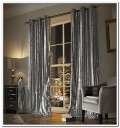 Crushed Velvet Curtains Grey Kylie Minogue For The Dining Room