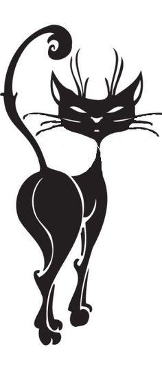 Трафареты кошки - фото 7