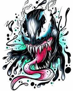 Spiderman Tattoo, Marvel Tattoos, Spiderman Art, Owl Tattoo Drawings, Cool Art Drawings, Video Game Drawings, Venom Comics, Marvel Comics Art, Venom Tattoo