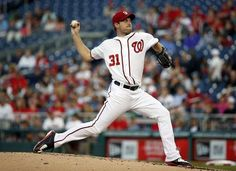 Washington Nationals starting pitcher Max Scherzer (31) throws during the third inning of a baseball game against the Philadelphia Phillies at Nationals Park, Friday, May 22, 2015, in Washington.  -  © AP Photo/Alex Brandon