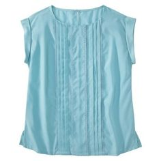 Jason Wu for Target Cap-Sleeve Pleated Blouse in Belize Blue - Large (L) $59.75