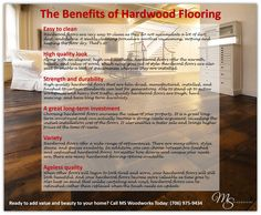 When other floors will begin to look tired and worn, your hardwood floors will still look beautiful. And your hardwood floors become more valuable as time goes by. Also keep in mind that unlike carpeting and vinyl, hardwood floors can be refinished rather than replaced when the finish needs an update.