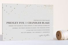 Thrilling Foil-Pressed Wedding Invitations by Design Lotus at minted.com I LOVE LOVE LOVE this invitation!!