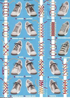 Shoelace ideas this is soo cool