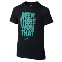 Nike S/S Crew Been There T-Shirt - Boys' Grade School - Black / Aqua