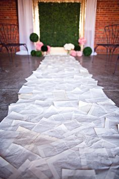Book page aisle runner | Blue Rock Photos | see more on: http://burnettsboards.com/2015/05/alice-wonderland-tea-party-styled-wedding/