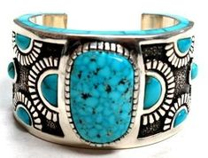 Michael Perry-One of a Kind Turq Inlay Cuff