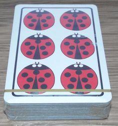 Ladybirds - Vintage Sealed Pack of Piatnik Playing Cards