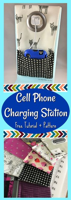 These Cell Phone Charging Stations are the perfect gift to either buy or sew (make) for the Tween and Teen in your life!  Even adults love them too!  Get your free sewing pattern or DIY kit here!