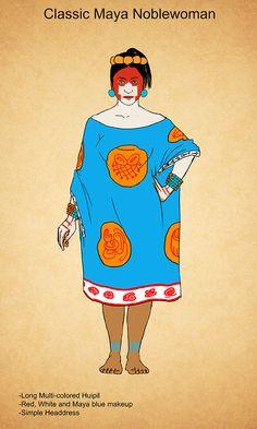 Classic Maya Fashion by Kamazotz.deviantart.com on @DeviantArt