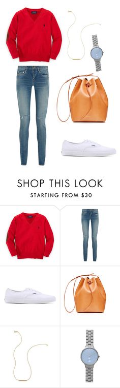 """Untitled #45"" by wooniverse on Polyvore featuring Ralph Lauren, Yves Saint Laurent, Vans, Mansur Gavriel, Wish by Amanda Rose and Skagen"