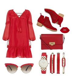 """Red"" by fluffy-bunny4 ❤ liked on Polyvore featuring 10 Crosby Derek Lam, Jeffrey Campbell, Lodis, Gucci and Anne Klein"