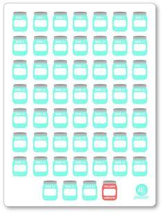 BLANK {Create Your Own} 52 Week Savings Challenge PDF PRINTABLE Planner Stickers - Planner Penny