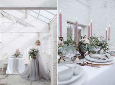 Soft Pink & Grey Wedding Inspiration Shoot From One Stylish Day